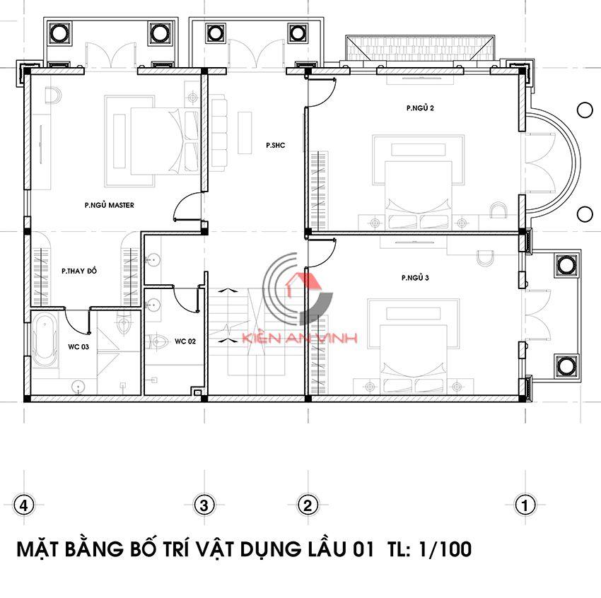 Dự án Biệt Thự 3 Tầng - Kiến Trúc Biệt Thự đẹp 8