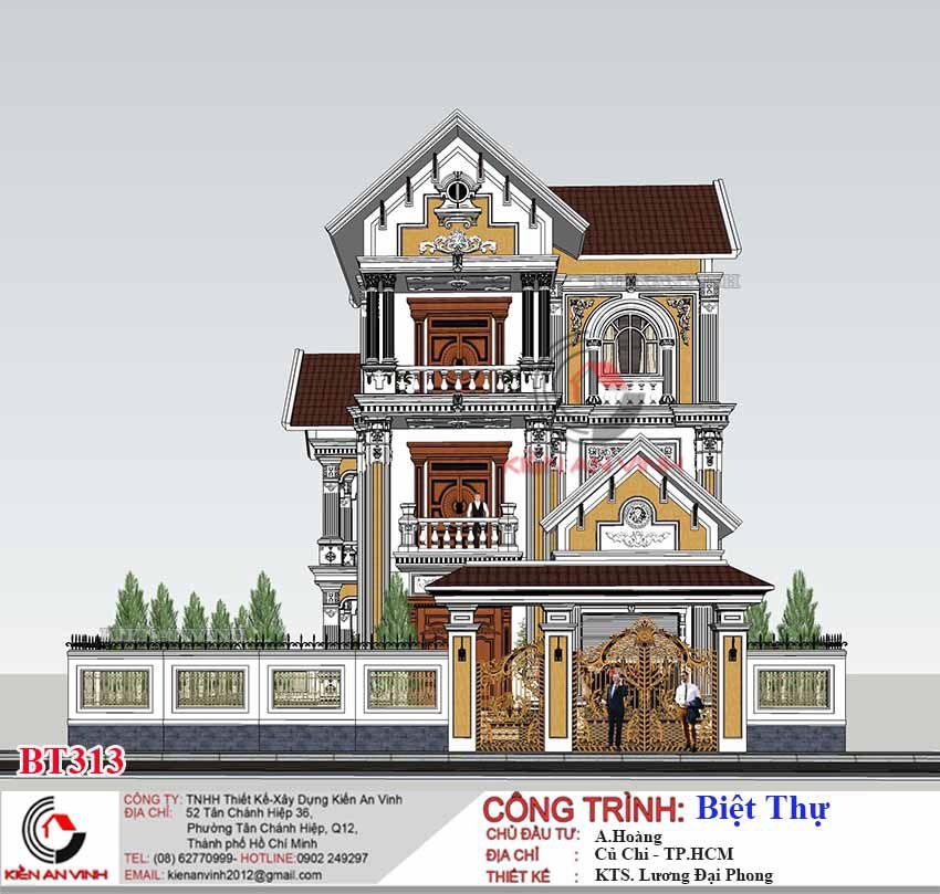 Mẫu Biệt Thự 3 Tầng Tân Cổ điển 11
