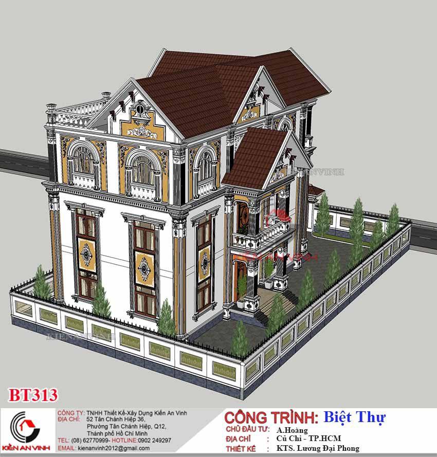 Mẫu Biệt Thự 3 Tầng Tân Cổ điển 13