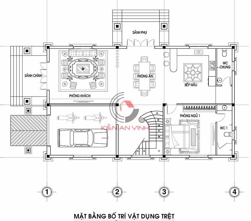 Mẫu Biệt Thự 3 Tầng Tân Cổ điển 16