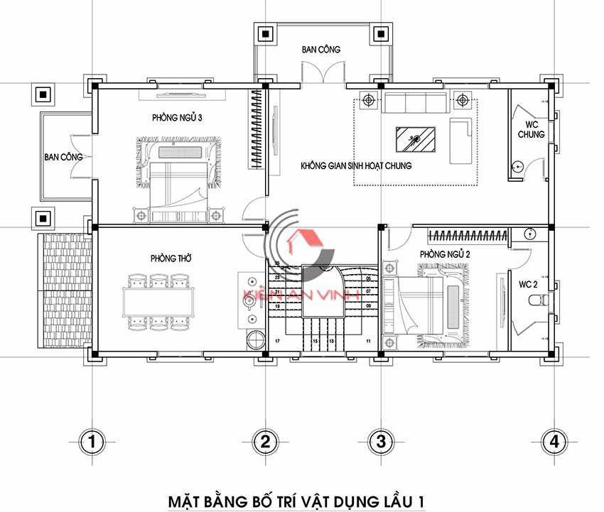 Mẫu Biệt Thự 3 Tầng Tân Cổ điển 17