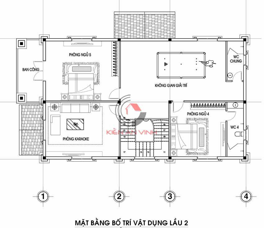 Mẫu Biệt Thự 3 Tầng Tân Cổ điển 18