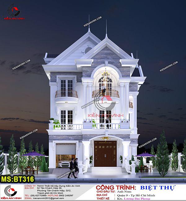 Mẫu Thiết Kế Nhà Biệt Thự đẹp 3 Tầng 9