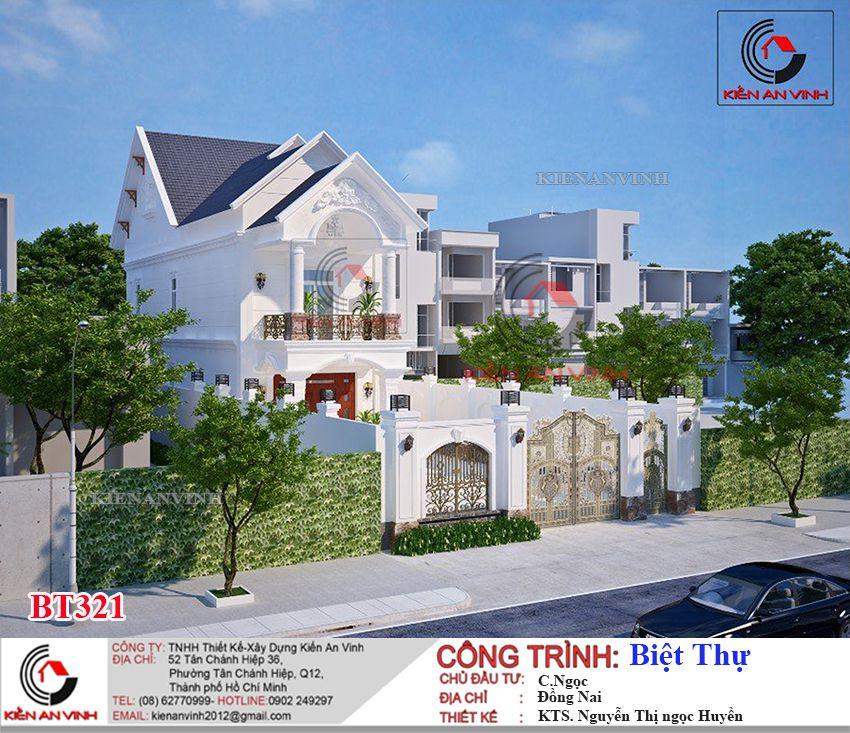 Mặt Tiền Biệt Thự 2 Tầng Mái Thái Diện Tích 200m2 5