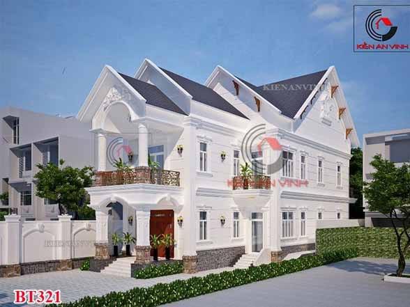 Mặt Tiền Biệt Thự 2 Tầng Mái Thái Diện Tích 200m2