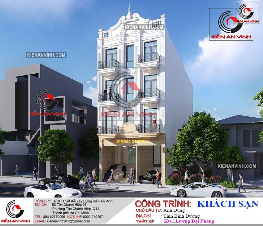 Thiết Kế Khách Sạn 4 Tầng - Khách Sạn ở Bình Dương 1