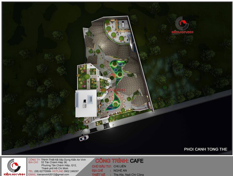 Thiết Kế Quán Cafe Vườn Diện Tích Mặt Tiền 20m 11