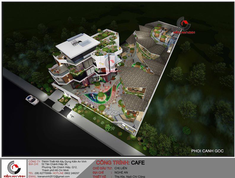 Thiết Kế Quán Cafe Vườn Diện Tích Mặt Tiền 20m 12