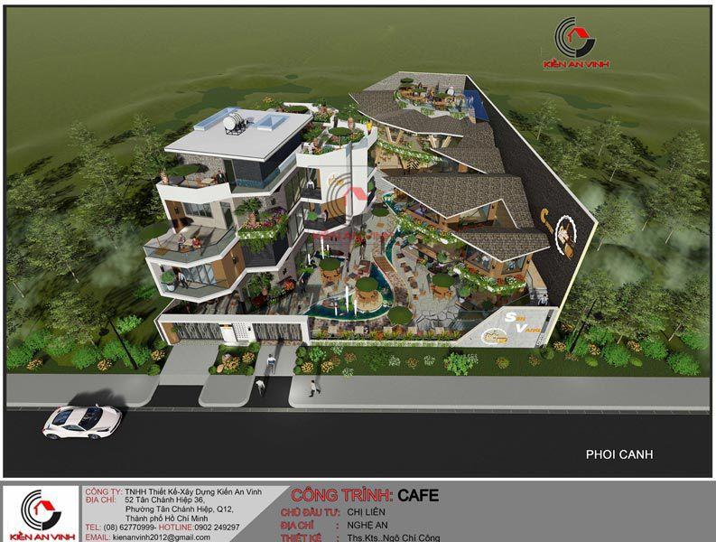 Thiết Kế Quán Cafe Vườn Diện Tích Mặt Tiền 20m 3