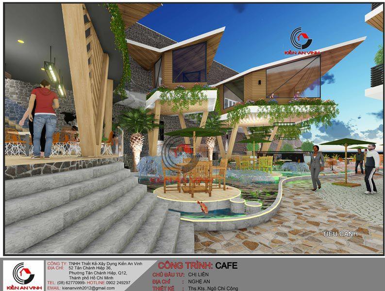 Thiết Kế Quán Cafe Vườn Diện Tích Mặt Tiền 20m 5