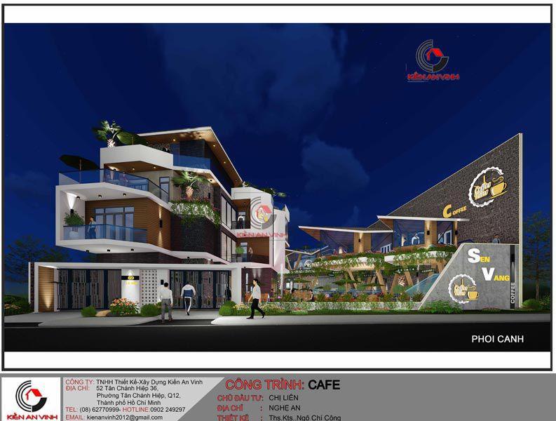 Thiết Kế Quán Cafe Vườn Diện Tích Mặt Tiền 20m 8
