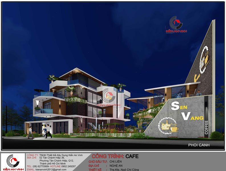 Thiết Kế Quán Cafe Vườn Diện Tích Mặt Tiền 20m 9