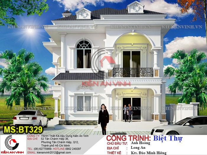 Mẫu Thiết Kế Biệt Thự Tân Cổ điển 2 Tầng đẹp Lung Linh-3