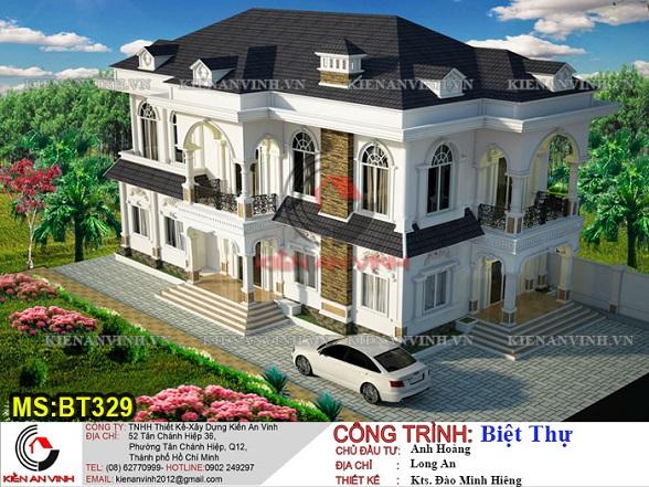 Mẫu Thiết Kế Biệt Thự Tân Cổ điển 2 Tầng đẹp Lung Linh
